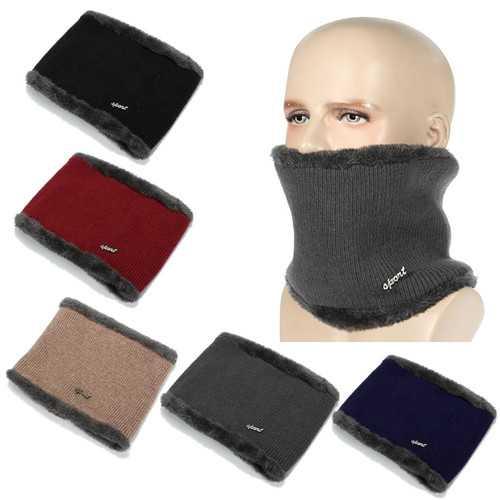 Outdoor Winter Men Neck Fleece Scarf Warm Face Mask Hat Cycling Ski Hood Cap