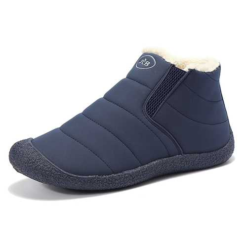 Men Comfortable Anti Collision Toe Suede Warm Fur Lining Boots