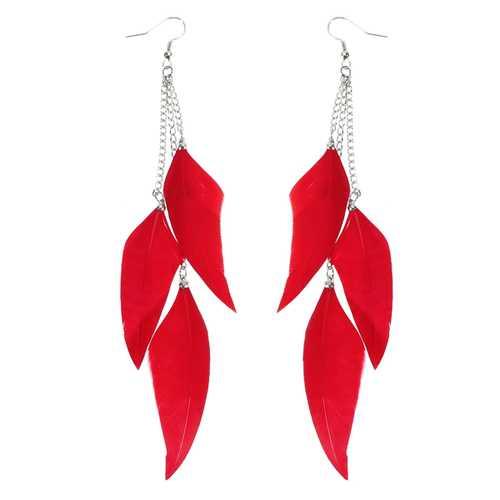 Bohemian Feather Tassels Ear Drop Boho Colorful Earrings