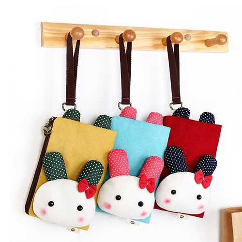 Cartoon Cute Style Coins Bag 5.5inch Phone Bag Card Holder Clutch Bags