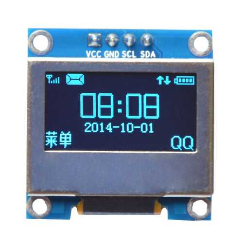 0.96 Inch 4Pin Blue IIC I2C OLED Display With Screen Protection Cover Module For Arduino