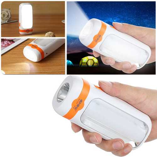 11 SMD LED Mini Torch Camping Rechargeable Lantern 2 Modes 900mAh Emergency Light