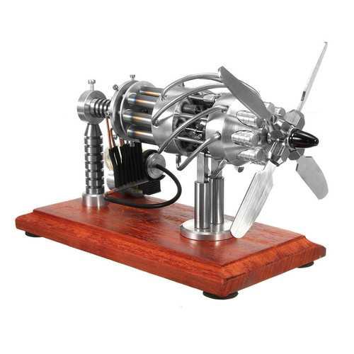 16 Cylinder Hot Air Stirling Engine Motor Model Creative Motor Engine Toy Engine