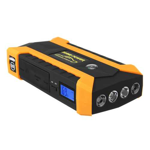 89800mAh LED Car Jump Start Starter 4 USB Charger Battery Power Bank Booster 12V