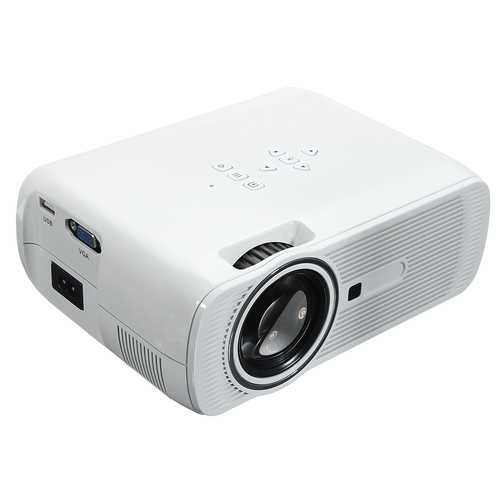 1200 Lumens 800*480 Resolution Portable HD LED Projector Home Cinema Theater US Plug for Cellphone
