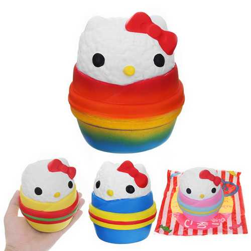 Angie Squishy Onigiri Sushi Jumbo 12cm Scented Slow Rising Original Packaging Collection Gift Decor Toy