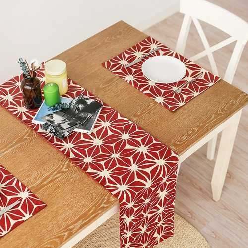 Honana WX-XY2 Nordic American Rectangular Tea Table Runner Tablecloth Modern Table Flags Red Christmas Placemat Home Decor