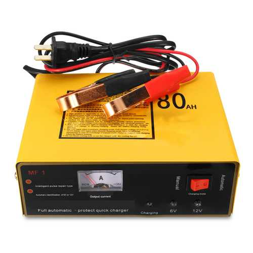 120W 6V 12V 80AH Motorcycle Auto Car Charger Pulse Repair For Lead Acid & Lithium Battery