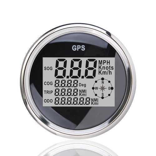 85mm GPS Waterproof  Digital Speedometer Odometer Gauge