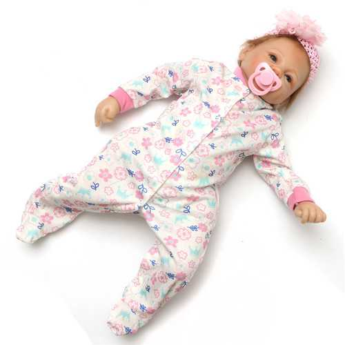 "22"" 55cm Lifelike Newborn Silicone Vinyl Reborn Baby Doll Handmade Reborn Dolls"