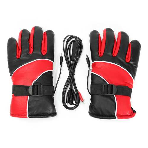 12V Warm Electric Heated Warmer Winter Gloves Motorcycle Scooter E-bike