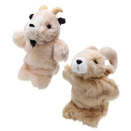 27CM Stuffed Toy Antelope Fairy Tale Hand Puppet Classic Children Figure Toys Plush Aniaml