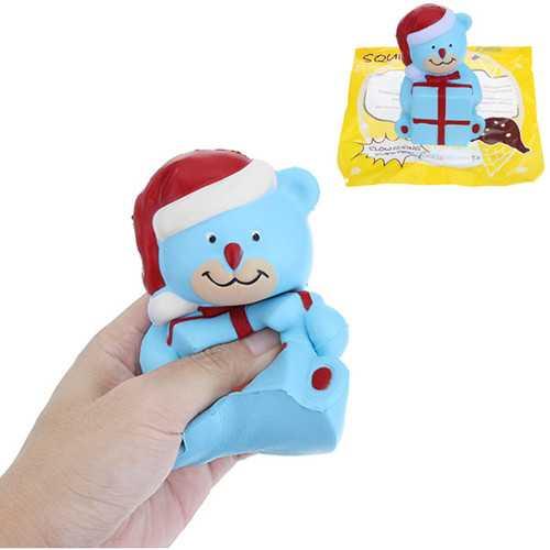 12.5cm Squishy Christmas Bear Slow Rising Soft Animal Squishy Toy Gift