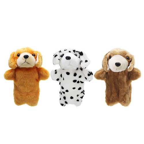 27CM Stuffed Puppy Dog Fairy Tale Hand Puppet Classic Children Figure Toys Plush Animal