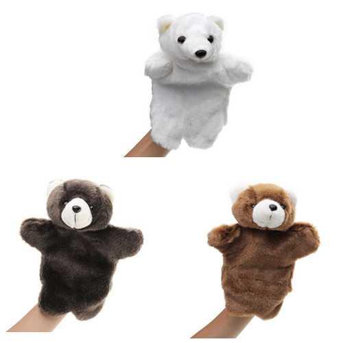 27CM Stuffed Animal Bear Fairy Tale Hand Puppet Classic Children Figure Toys Plush