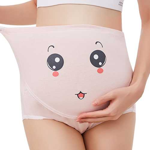Pregnant Women Underwear Soft Cotton High Waist Adjustable Maternity Briefs