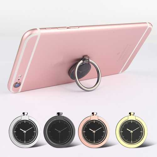360 Degree Rotation Watch Shape Finger Ring Holder Phone Stand Ring Grip for iPhone Samsung Xiaomi