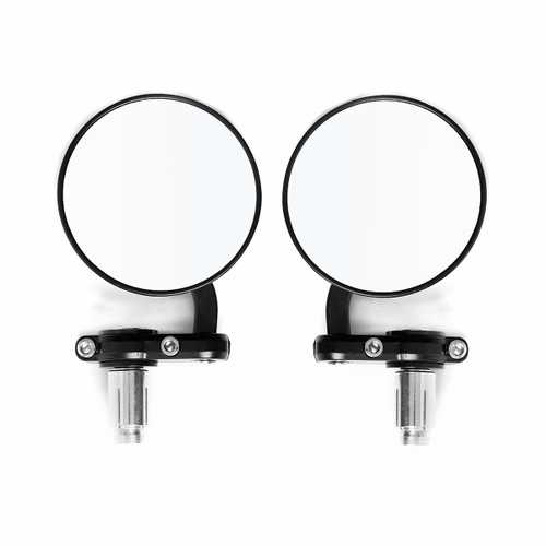 22mm Round Motorcycle Mirrors 7/8inch Handle Bar End Side Spherical Secondary