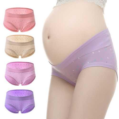 Pregnant women Low Waist Underwear Cotton Antibacterial Breathable Pants