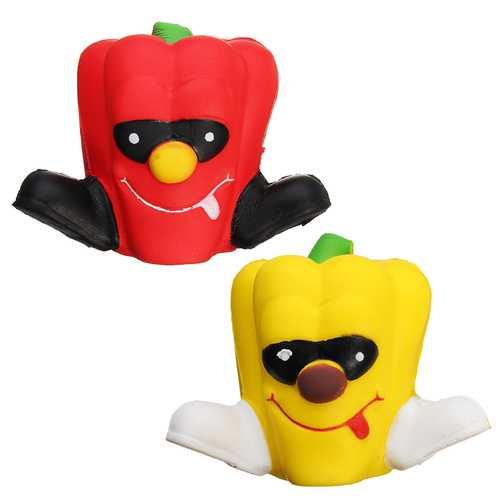8cm Squishy Pimento Chili Unicorn Slow Rising Pepper Squishy Kids Toy Gift Collection