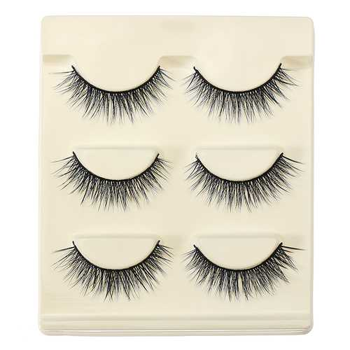 3D False Eyelashes Set Blue False lashes Makeup Natural Eyelashes Extension for Party
