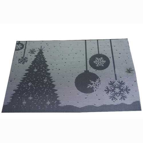 Placemat Fashion Pvc Dining Table Mat Christmas Disc Pads Bowl Pad Coasters Waterproof Table Cloth Pad Slip-Resistant Pad