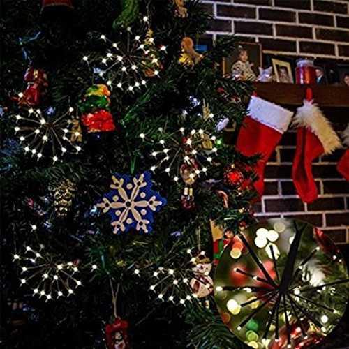 2M 100LEDs Warm White Firecracker Fairy String Light for Christmas Patio Party EU US Plug