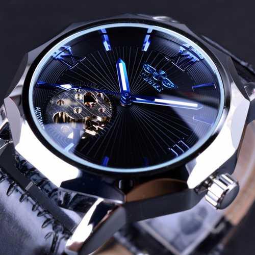 GMT964 Automatic Mechanical Watch Transparent Skeleton Dial Men Watch