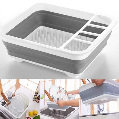 Kitchen Collapsible Folding Caravan Dish Drainer Camping Drying Rack Organizer Drain Shelf