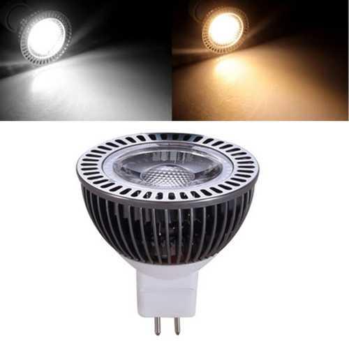 MR16 5W Warm White Pure White COB LED Spotlight Bulb DC8-24V
