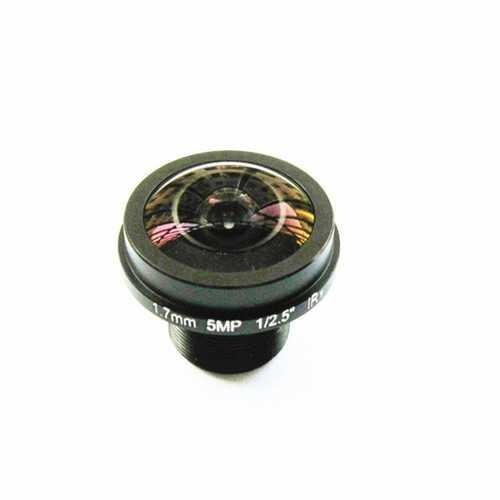 "1/2.5"" 1.7mm 5MP M12 IR Blocked Wide Angle FPV Camera Lens"