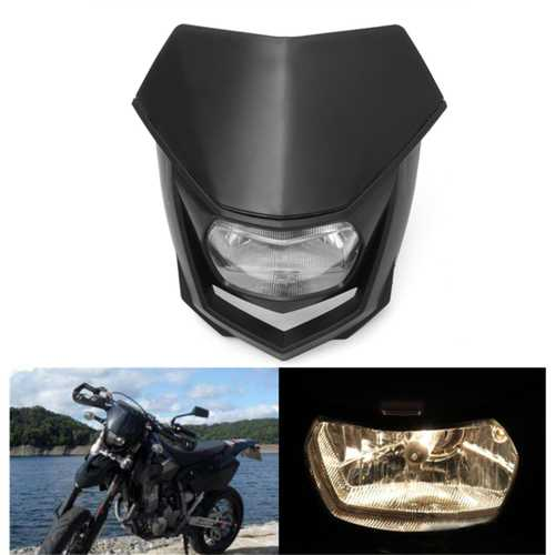 12V 8000lm Motorcycle Head Lamp W/ High Low Beam Enduro Dirt Bike Headlight Universal