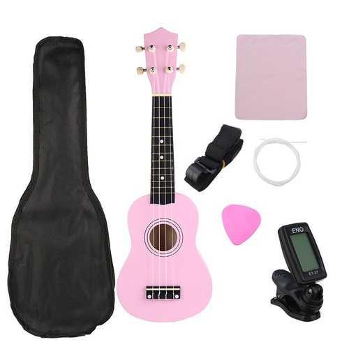 21 Inch Economic Soprano Ukulele Uke Musical Instrument With Gig bag Strings Tuner