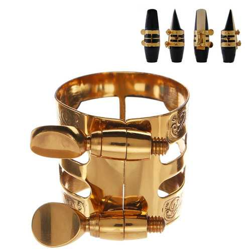 1Pc Gold Plated Alto Saxophone Mouthpiece Ligature  Clip