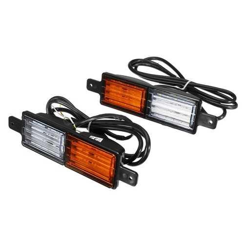 2pcs DC 10-30V Universal Truck Trailer Bull Bar Front LED Indicator Park Lamp LED Warning Light
