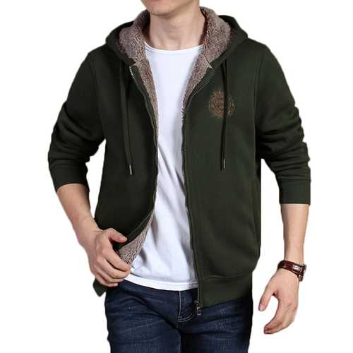 Cashmere Hoodies Outdoor Sports Zip Up Hooded Sweatshirt