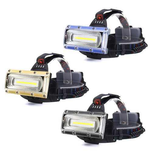 BIKIGHT 1300LM 30W COB LED Headlamp Cycling Lamp Three Lighting Modes Adjustable Base