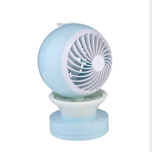 LED luminous spray humidification USB Charging Portable Mini Fan
