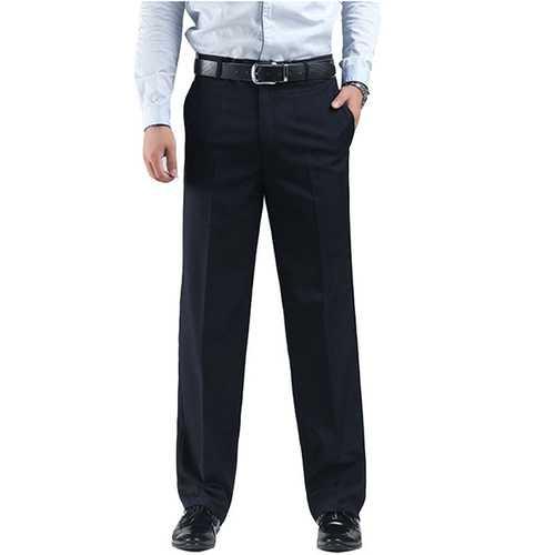 Black Slim Straight Suit Pants Men's Dress Trousers