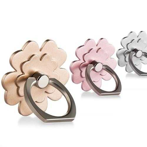 Flower Shape 360 Degree Rotation Finger Ring Stand Desktop Phone Holder for Samsung Xiaomi iPhone