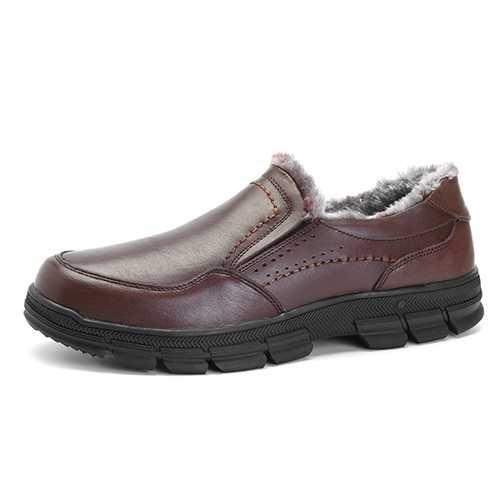 Comfy Fur Lining Slip On Oxfords Shoes for Men