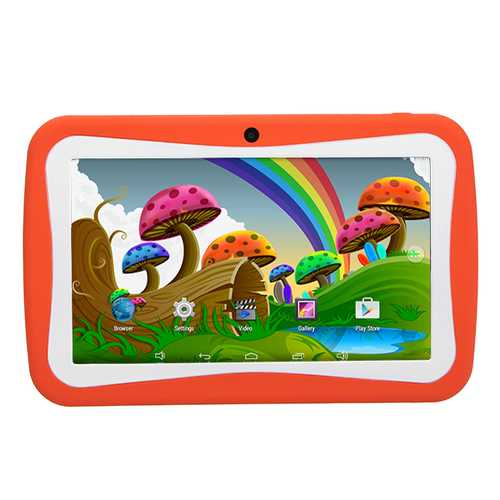 Binai A9 Quad Core 512M RAM 8G ROM Android 5.1 7 Inch Kids Tablet Orange