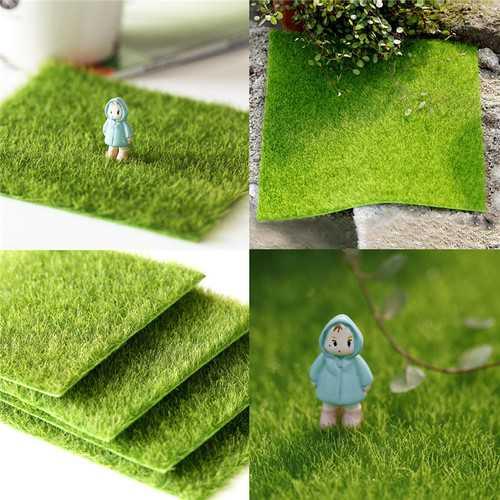 30*30cm Artificial Faux Garden Turf Grass Lawn Moss Miniature Craft Ecology Decor