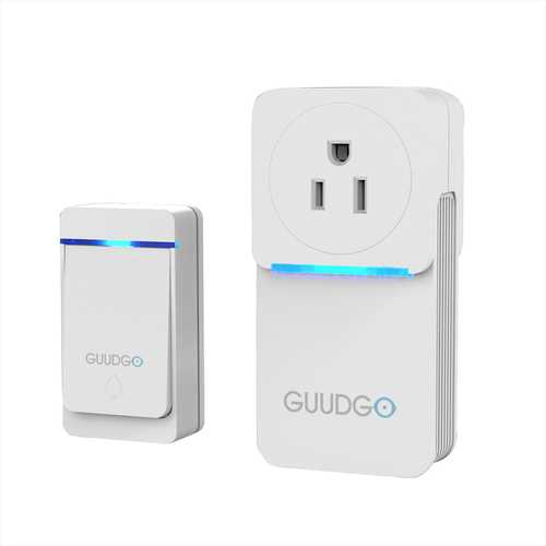 GUUDGO GD-MD02 Waterproof Socket Music Doorbell 52 Melody Chime 5 Levels of Adjustable Volume Door Bell Socket Doorbell Inspired Design 300M Range EU/ US/ UK Plug Optional