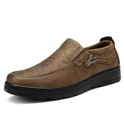 Large Size Comfy Microfiber Leather Casual Oxfords