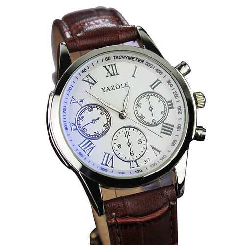 317 Men Watch Luxury Business Male Clock Quartz-Wrist Watch Leisure Fashion Leather