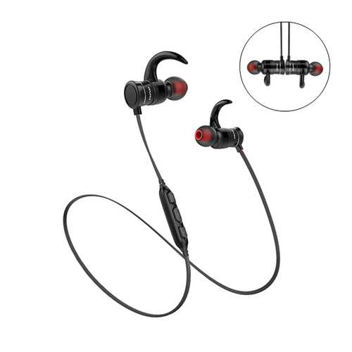 AWEI AK5 Sport Magnetic IPX4 Waterproof Hall Sensor Stereo HD Bass bluetooth Earphone With Mic