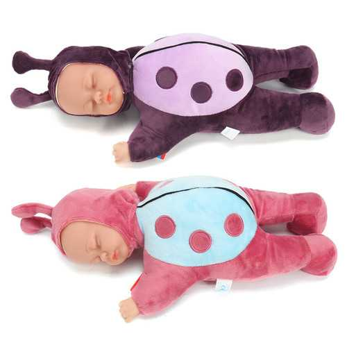 12/16/18'' Newborn Sleeping Silicone Vinyl Reborn Baby Ladybird Lifelike Doll