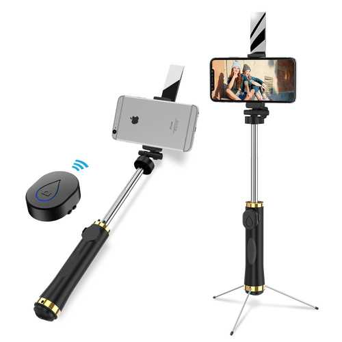 Bakeey 3 in 1 360 Rotation Mirror Foldable Tripod Bluetooth Selfie Stick for 3.5-6 inch Smartphone