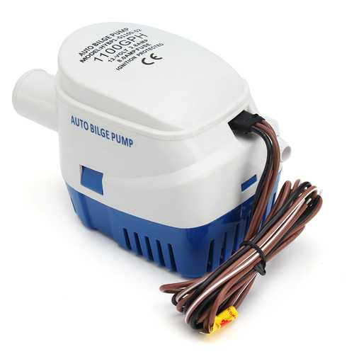 12V 1100GPH Boat Marine Automatic Submersible Bilge Water Pump With Float Switch